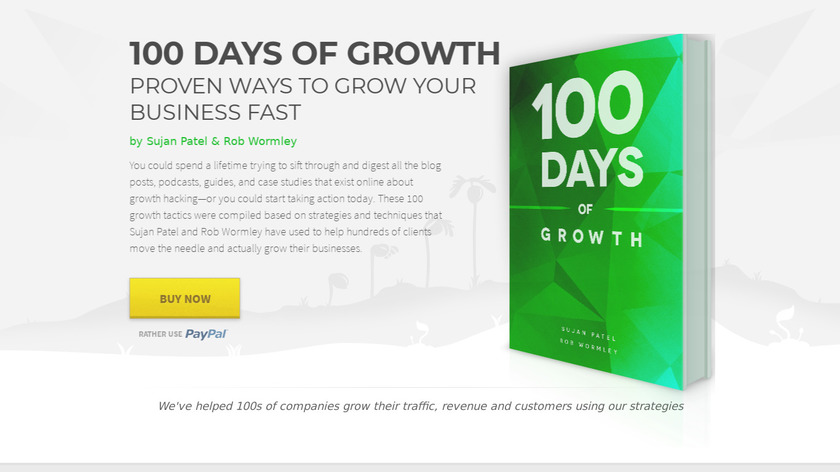 100 Days of Growth Landing Page