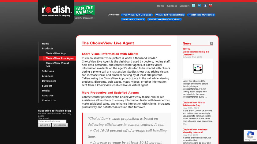 ChoiceView Live Agent Landing Page