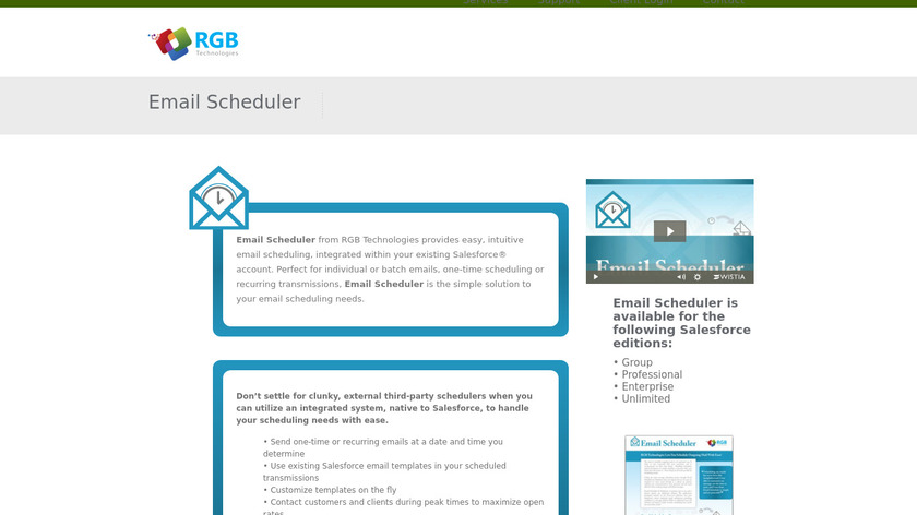 RGB Technologies - Email Scheduler Landing Page