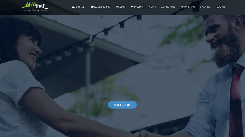 AHAthat Landing Page