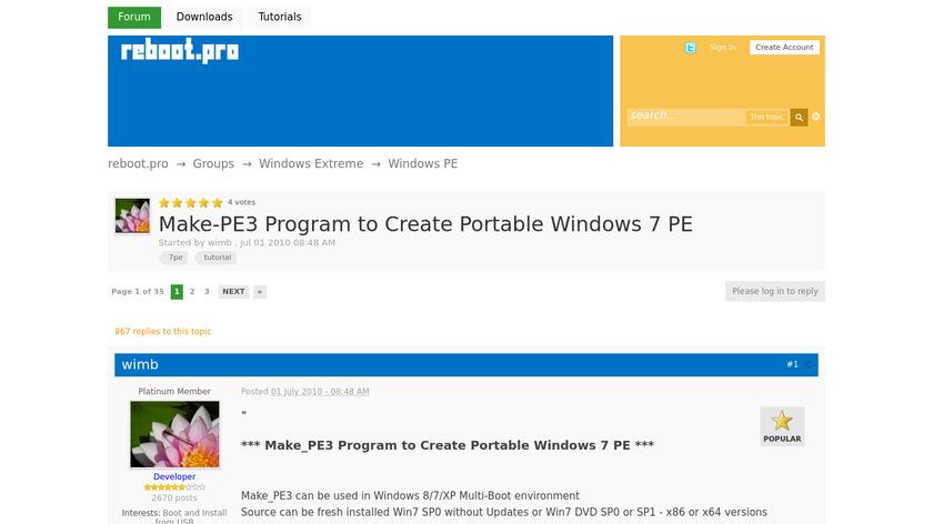 Make_PE3 Landing Page