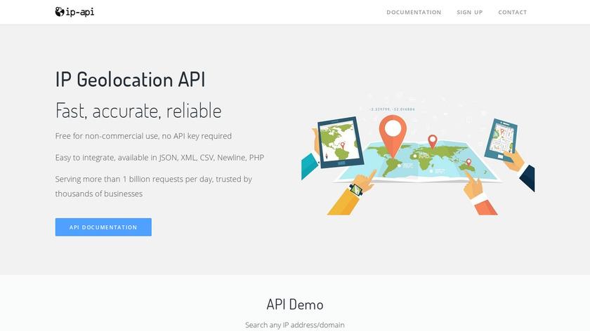 IP-API.com Landing Page