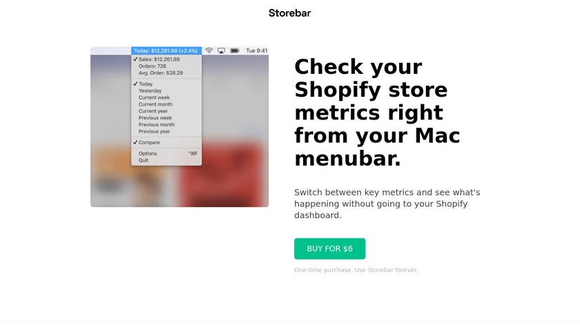 Storebar Landing Page