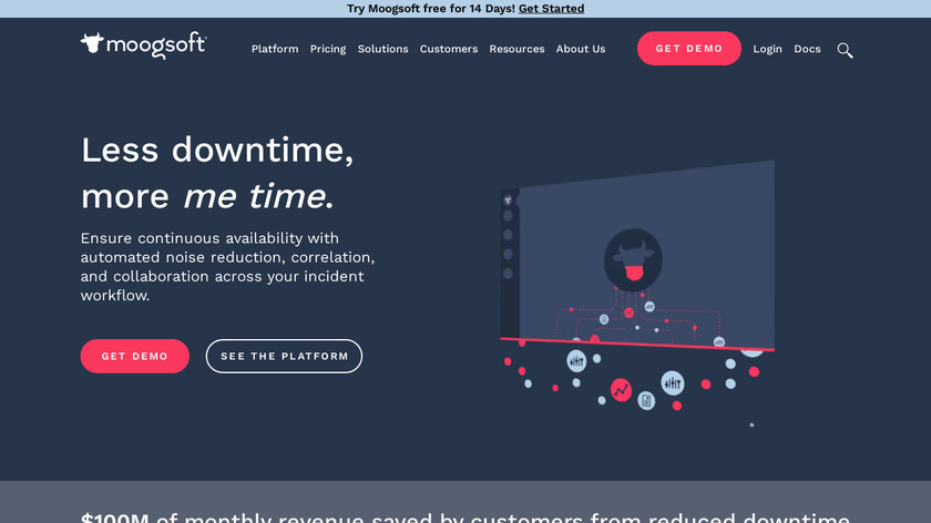 Moogsoft AIOps Landing Page