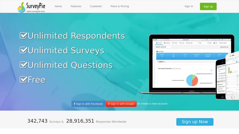 SurveyPie Landing Page
