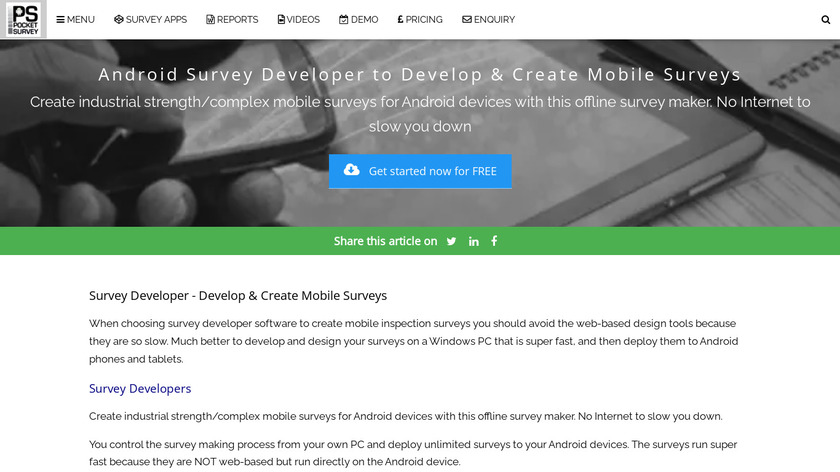Android Survey Developer Landing Page