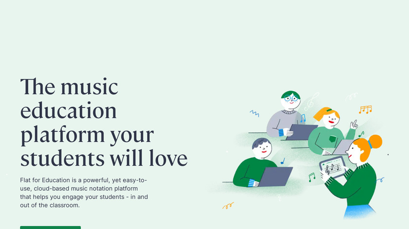 Flat for Education Landing Page