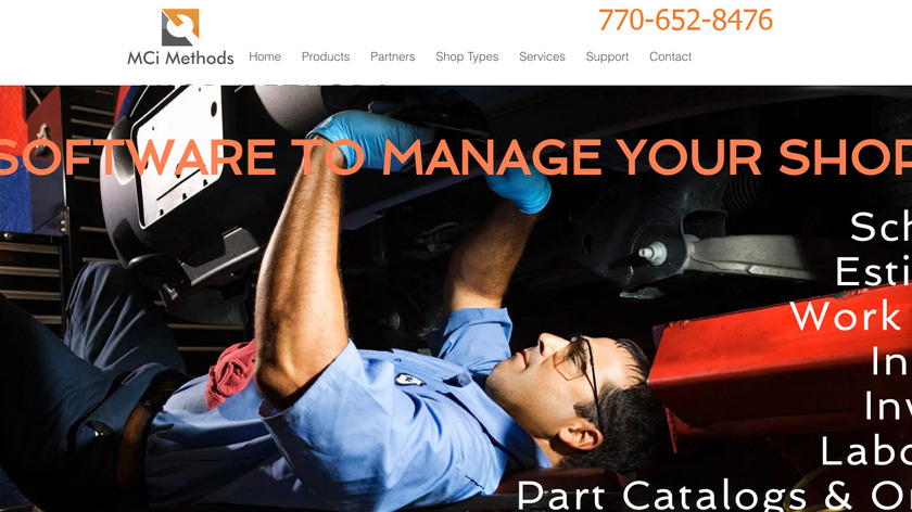MCi Software Shop Methods Landing Page