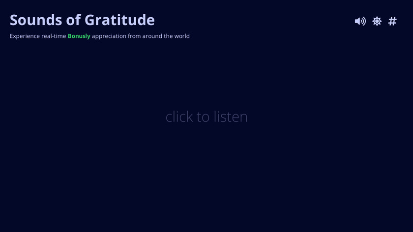 Sounds of Gratitude by Bonusly Landing Page