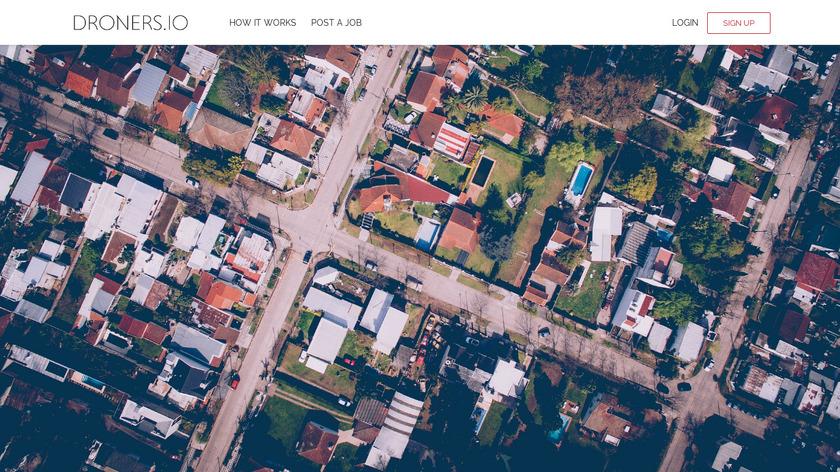 Droners.io Landing Page