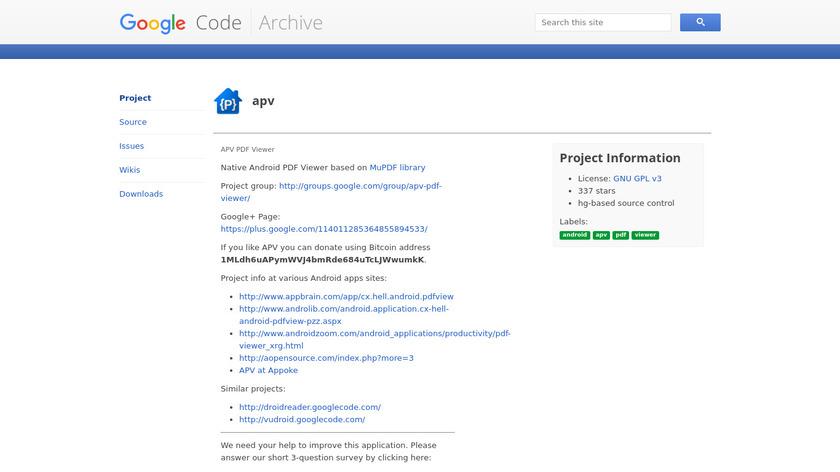 APV Landing Page