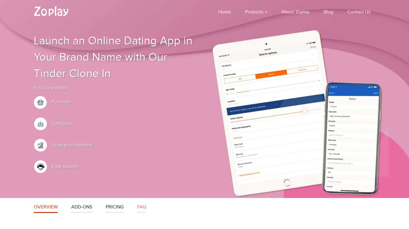Datingo Landing Page