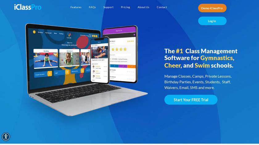 iClassPro Landing Page