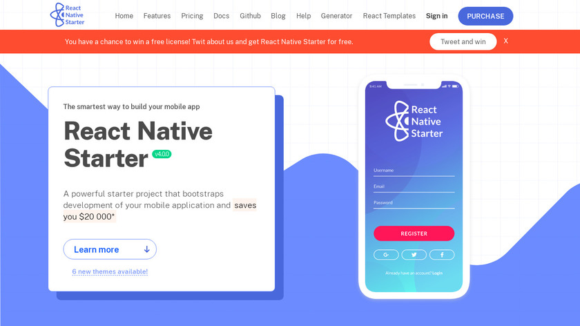 React Native Starter Landing Page
