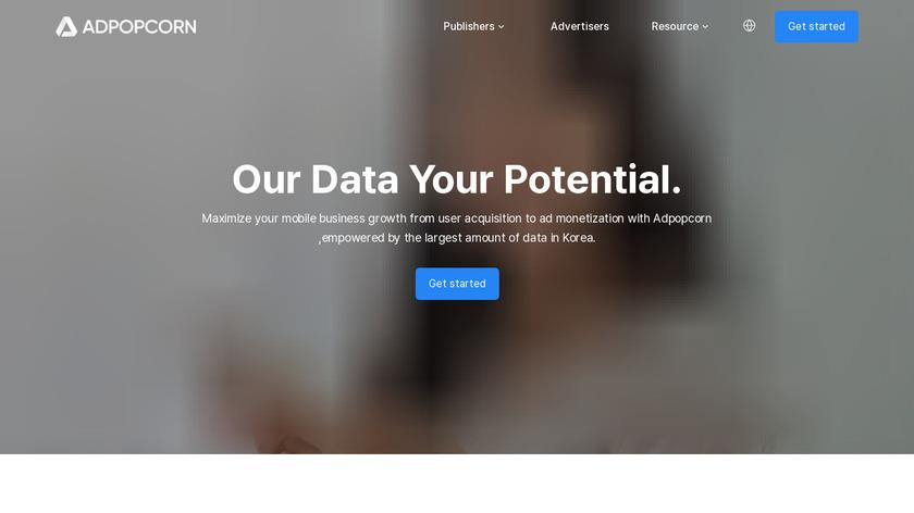 adPOPcorn Landing Page