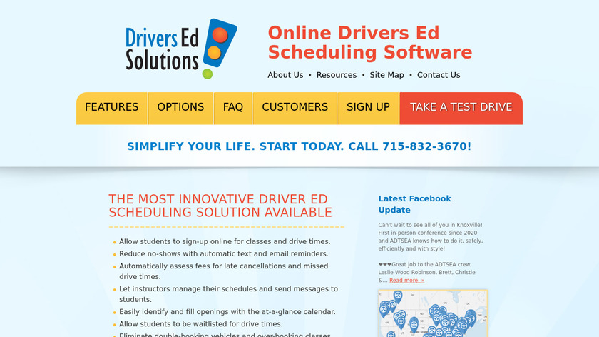 Drivers Ed Solutions Landing Page