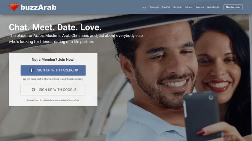 BuzzArab Landing Page