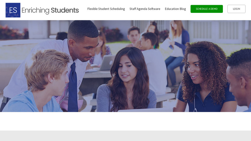 Enriching Students Landing Page