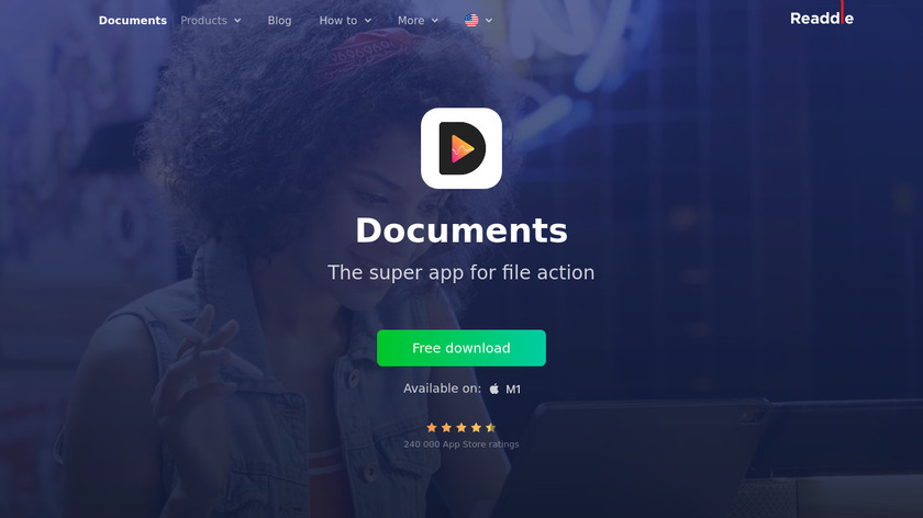Documents by Readdle Landing Page