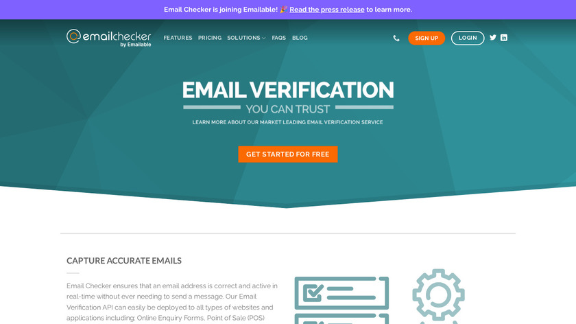 Email Checker Landing Page