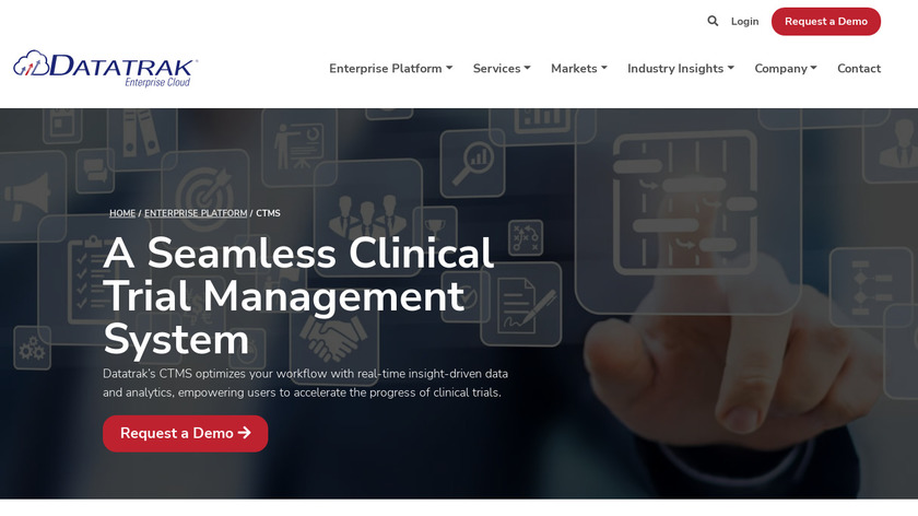 DATATRAK CTMS Landing Page