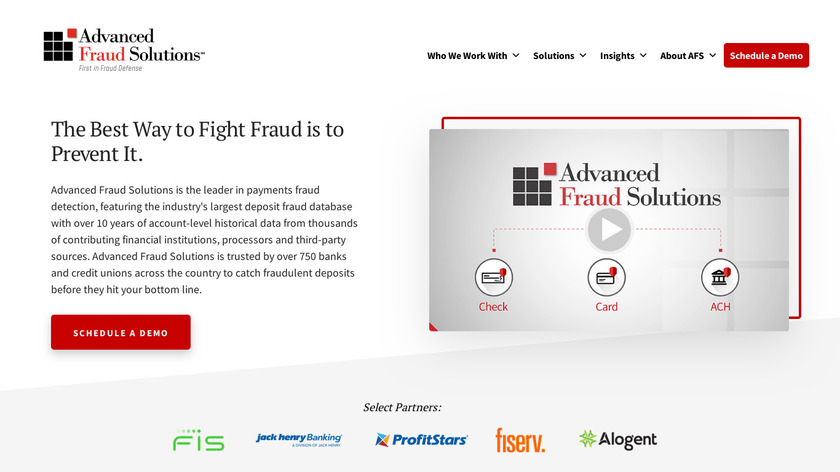 Advanced Fraud Solutions Landing Page
