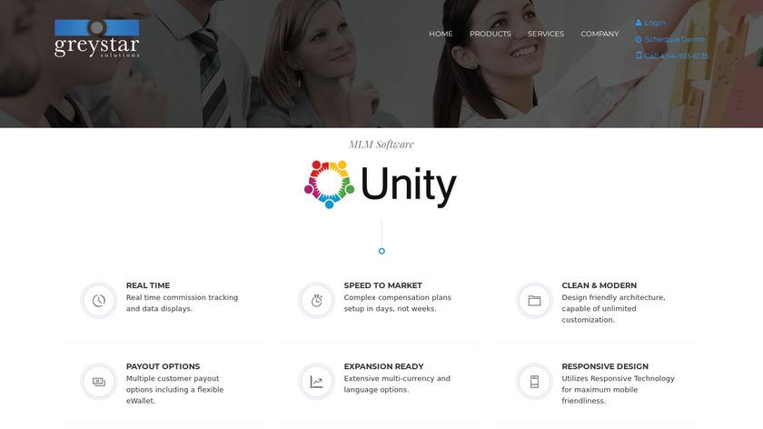 Unity MLM Landing Page