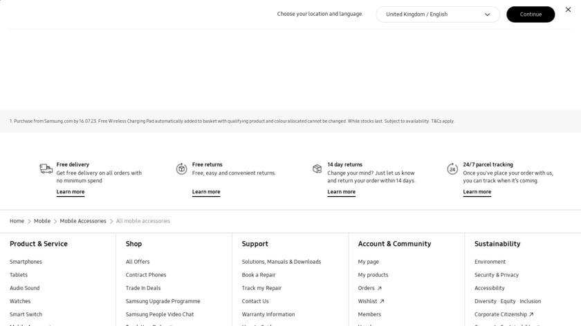 Samsung Allshare Cast Landing Page