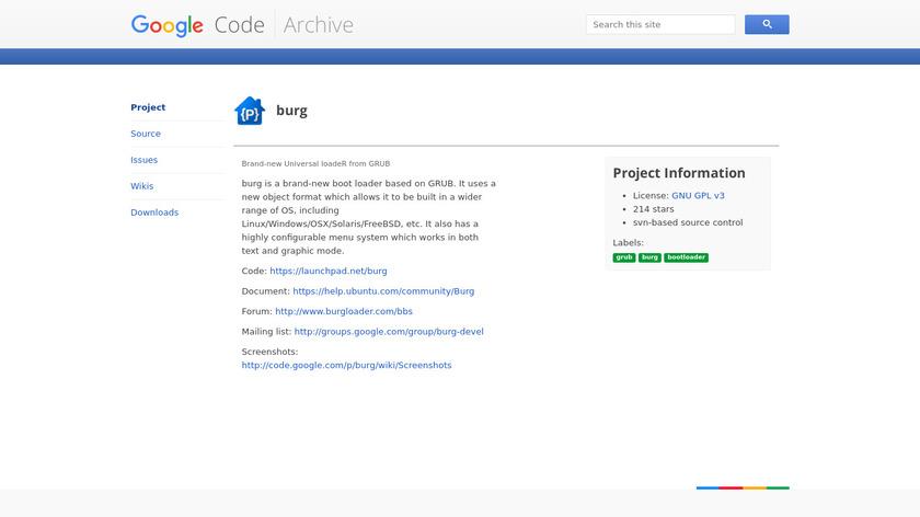 burg Landing Page