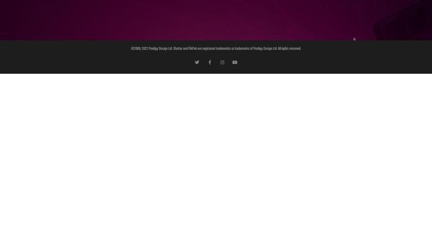 Shatter Landing Page