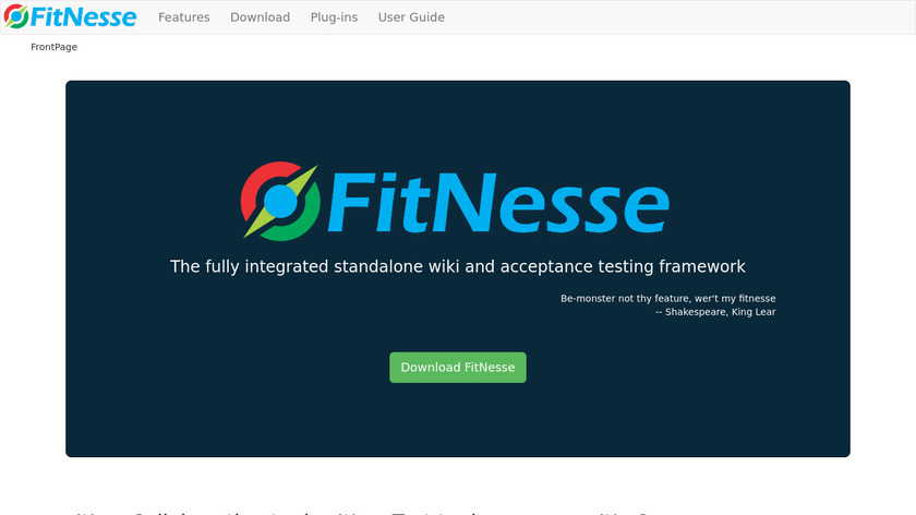 FitNesse Landing Page