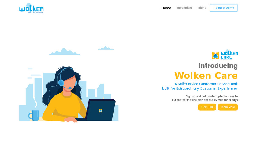 Wolken Service Desk Landing Page