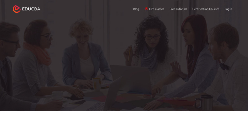 eduCBA Landing Page