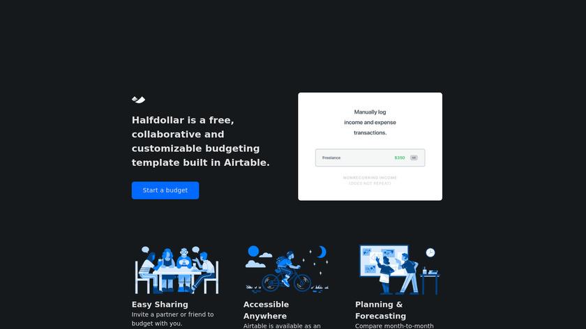 Halfdollar Landing Page