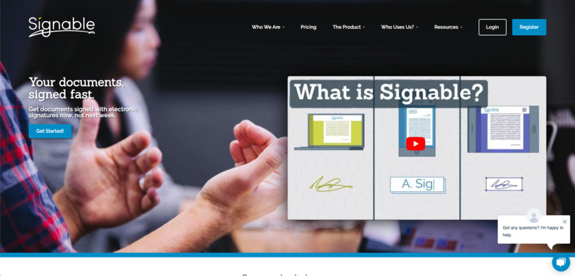 Signable Landing Page