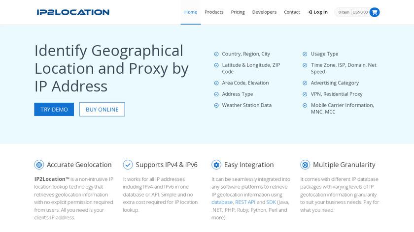 IP2Location Landing Page