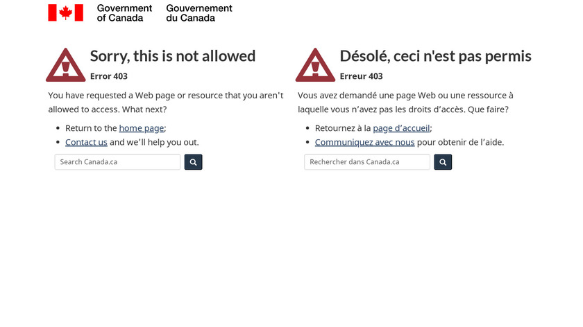 Shared Services Canada Landing Page