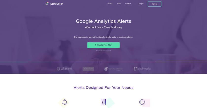 StatsGlitch Landing Page