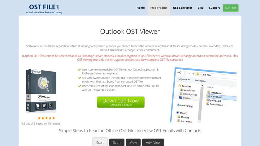 OSTFile.co.uk File Viewer Landing Page