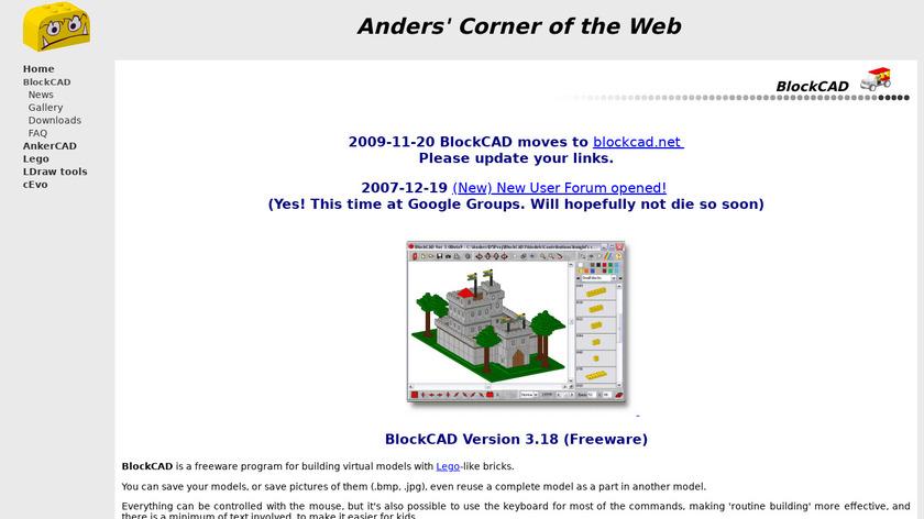 BlockCAD Landing Page