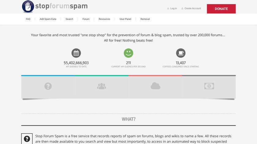 StopForumSpam Landing Page