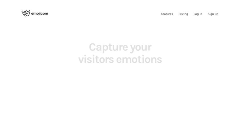 Emojicom.io Landing Page