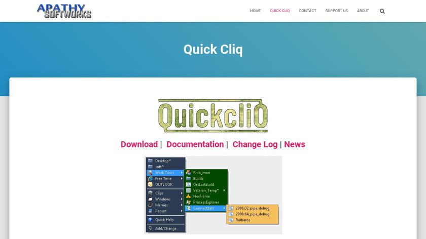 Quick Cliq Landing Page