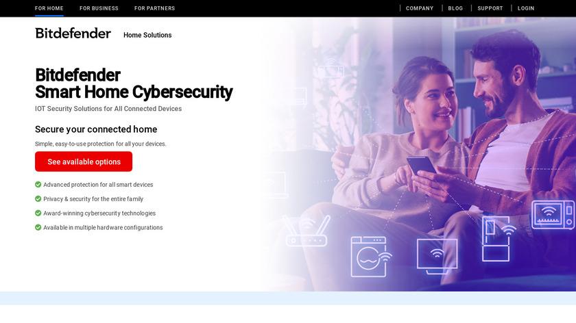 Bitdefender BOX Landing Page