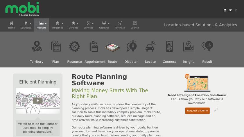 mobi. Route Landing Page