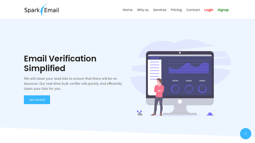SparkEmail Landing Page