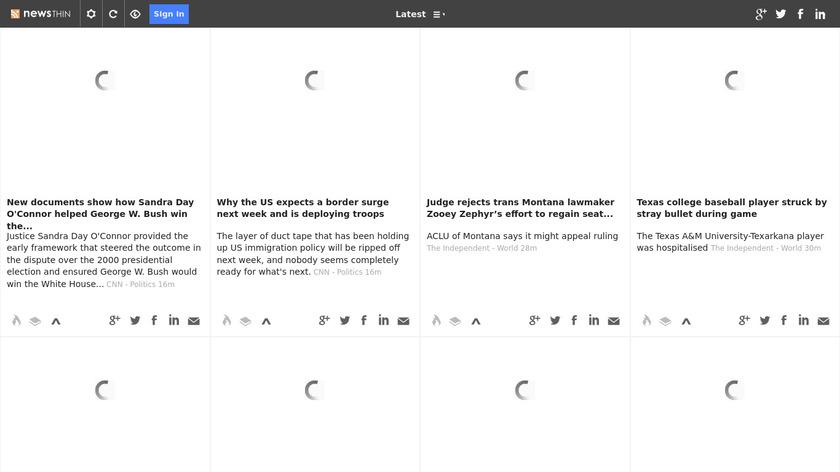 Newsthin Landing Page