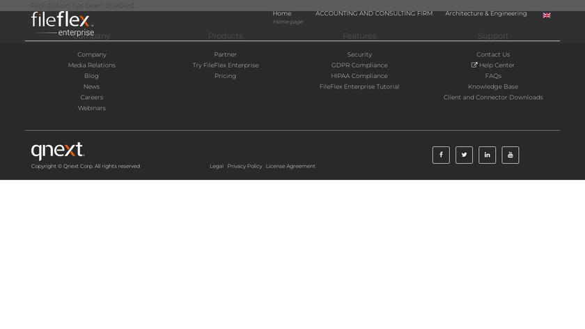 FileFlex Landing Page