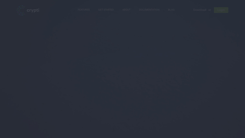 Crypti Landing Page