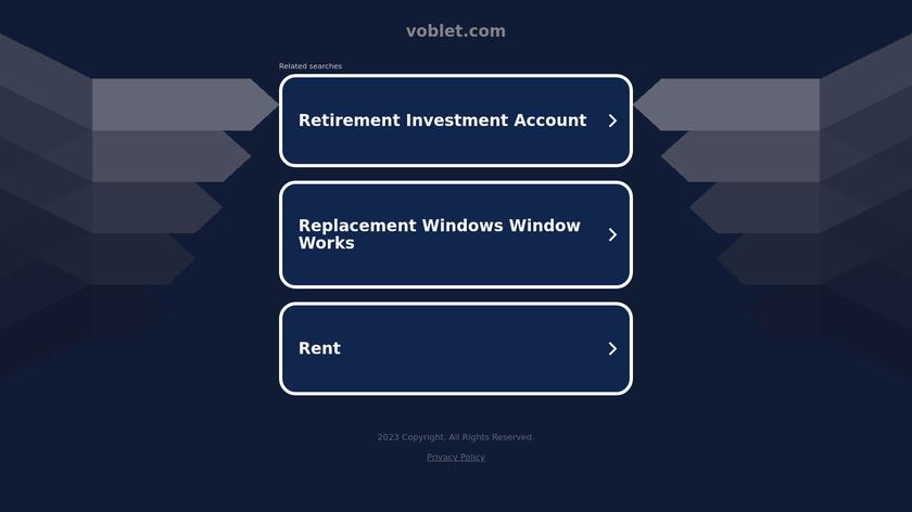 Voblet Landing Page